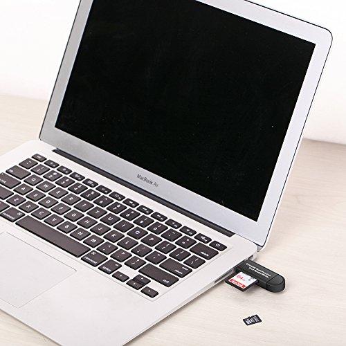 Vanja Lectores de tarjetas de memoria SD/Micro Lector de tarjetas SD y Micro USB OTG a USB 2.0 Adaptador con estándar USB macho Micro USB macho conector para ordenadores de sobremesa y portátiles Smartphones/Tablets con función OTG