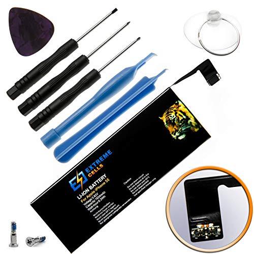 Extremecells Akku Ersatzakku + Werkzeug Set für Apple iPhone SE Battery Batterie