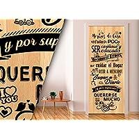 Vinilo para Puerta   Stickers Door   Pegatina Puerta   Normas (204x83)