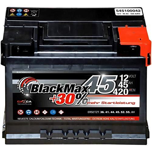 wartungsfrei nach EN Accurat Autobatterie Starterbatterie 46Ah 12V 400A-Kaltstartstrom Blei-S/äure Ca-Technologie Nassbatterie 30/% Extra-Startleistung