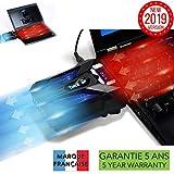 TAKIT Refroidissement pour PC portable - VERSION 2019 - GARANTIE 5 ANS - Extracteur...
