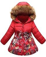 Ecollection® Kinder Mädchen Daunenmantel mit Kapuze Jacke Wintermantel