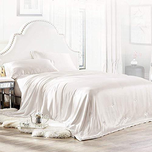 ElleSilk Luxus Bettdecke, Seide Tröster, gefüllt mit 100% natürlichen Langen Strand Maulbeer Seide, natürlich Atmungsaktiv Twin (68