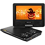 """APEMAN 7.5"""" Reproductor de DVD Portátil para los Niños Reproductor DVD con Pantalla Giratoria Soporta Tarjeta SD /USB /CD /DVD Batería Recargable con Mando a Distancia"""