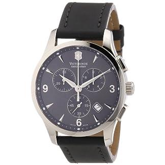 Victorinox Swiss Army – Reloj cronógrafo de Cuarzo para Hombre con Correa de Piel, Color Beige