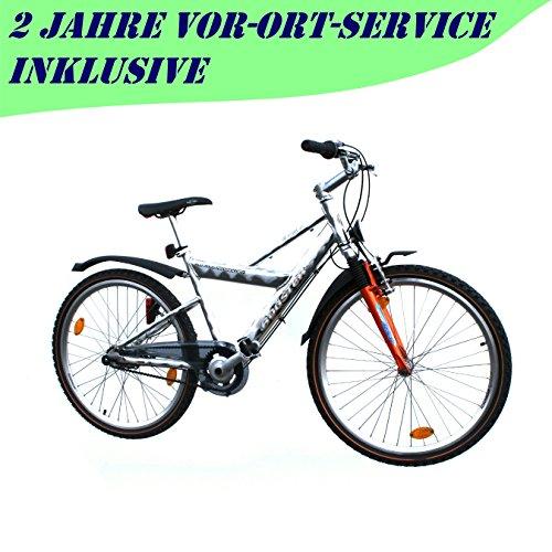 Mountainbike 26 Zoll Alu 7 Gang Nexus RH 43 cm Fahrrad orange mit StVZO Ausstattung für Jugendliche und Erwachsene
