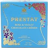 Prestat Dark Chocolate Rose and Violet Crèmes 140 g