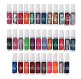 #1: Lifestyle-You® (34 Pcs) Nail Polish Set. Assorted Colours of Regular and Metallic Nail Polishes (6 ml each Bottle)