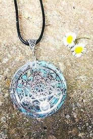 Orgone Orgonite ciondolo cubo di metatron,Turchese,Reiki, Chakra,New Age.