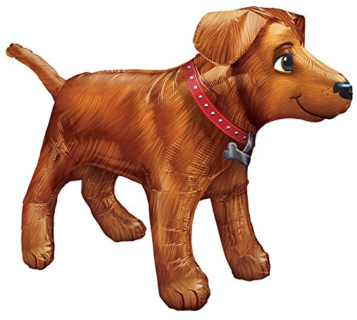 Amscan 3123401 36 x 24 Golden Dog, Ultra Form Folie Ballons (Smile Dog Kostüm)
