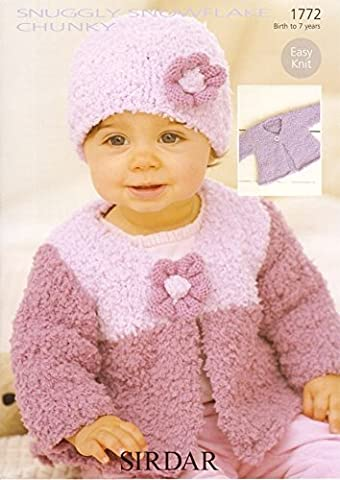 Sirdar Snuggly Snowflake Chunky Baby Knitting Pattern 1772 by