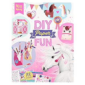 Depesche 10869 DIY Paper Fun, Miss Melody, Aprox. 21,5 x 27,5 x 1 cm, Multicolor