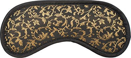 daydream A-1046 Gold Ornaments Premium-Schlafmaske mit Kühlkissen, Polyester / Baumwolle, 19x8x1,5 cm, schwarz