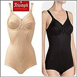 Triumph - Body contenitivo senza staffe, Art Doreen + cotone 01BS, coppa C, color carne