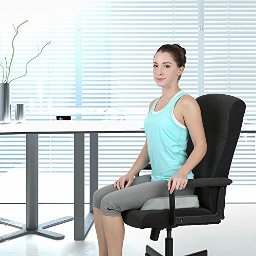 Naipo Memory Foam Seat Cushion Orthopedic Coccyx Sciatica Seat Cushion Car Seat Cushion Wheelchair Office Chair Seat Cushion Memory Foam for Lower Back Tailbone Coccyx Hemorrhoid Pelvic Pain Comfort Soft Seat Pad Foam Cushion for Home Car Office Chair Grey