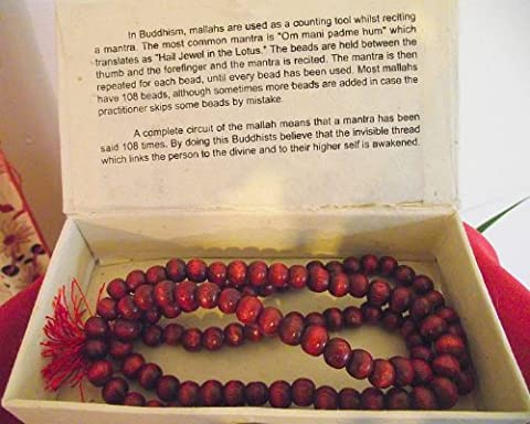 Mallah Prayer Beads with Red