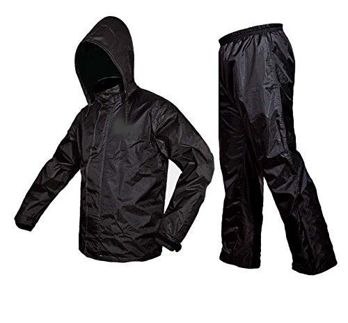 Zavia Premium Plain Rain Coat (Black) 51eMOMcM wL