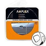 Ampulla 5 Metri Guarnizione Porta Auto in Gomma Adesiva Strisce 3M Protezione Universale Flessibile Pieghevole (Jet Black)