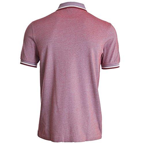 Fred Perry Uomo doppia punta m3600 polo shirt Mogano Mogano