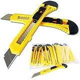 25 Stück Cuttermesser Teppichmesser Cutter Easy-click-System