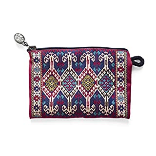 Oriental Carpet Coin Purse - Coin Pouch & Purse for Girls, Small Zipper Card Case Wallet as Change Holder & Money Bag or Cell/Mobile Phone Holder KAYERSI Collection