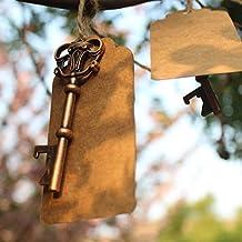 10 abrebotellas de estilo rústico de Awtlife, ideales para regalo de boda, souvenirs, decoración. Viene con cuerda de yute natural y papel marrón