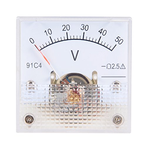 sourcing map DC 0-50V Analog Platte Spannung Messgerät Voltmeter 91C4 2,5% Fehler DE de 50v Analog