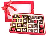 "Zoroy Luxury Chocolate Assorted Chocolate Box Saying "" I Love You Soooo Much"" For Valentine'S 24 Pcs - 240 Gms"