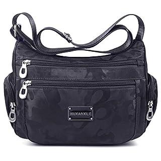 ABLE Anti Splash Water Shoulder Bag Casual Messenger Crossbody Bags (1-black)