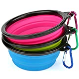H&S 3 Collapsible Travel Dog Water Bowl Portable Cat Pet Silicone Food Bowl Small