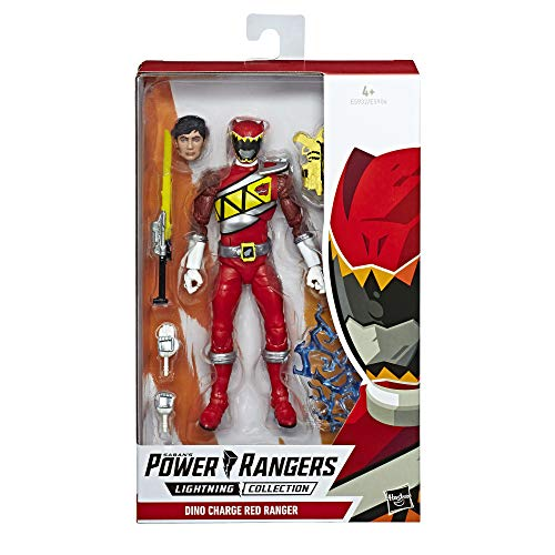 Power Charge Kostüm Dino Rangers - Power Rangers E5932ES0 Lightning Collection, 15 cm große Dino Charge Roter Ranger Action-Figur zum Sammeln