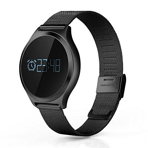 Q&D Smart Watch Blutdruck Herzfrequenzmessung Bluetooth Sport Fitness Schrittzähler Armband Für Android Ios Und Iphone , Black