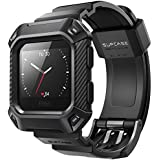 SUPCASE Fitbit Blaze Bands with Protective Case, [Unicorn Beetle Pro] Rugged Case Strap Bands for Fitbit Blaze Fitness Smart Watch (Black)