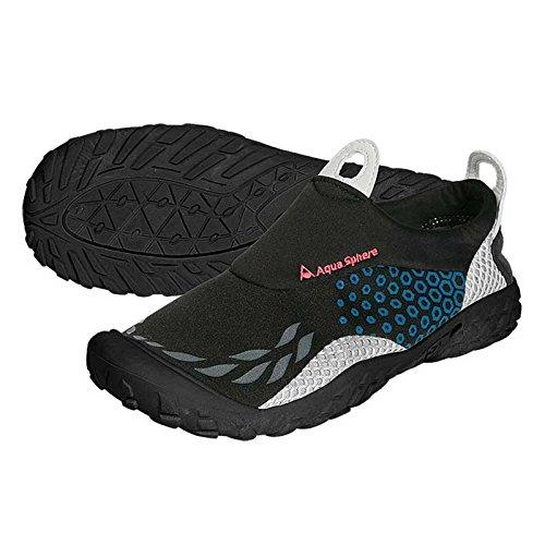 Aqua Sphere Sporter Wasser-Schuhe, Schwarz/Blau, unisex, Sporter, schwarz / blau,45