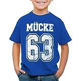 CottonCloud Mücke 63 T-Shirt für Kinder Bulldozer Film Star Movie, Farbe:Blau, Größe:140