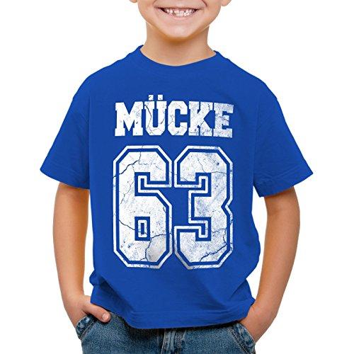 CottonCloud Mücke 63 T-Shirt für Kinder Bulldozer Film Star Movie, Farbe:Blau, Größe:128 -