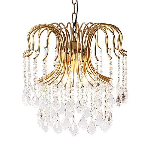 American Style Land Europäischen Crystal Crystal Pendelleuchten Pendelleuchten Schlafzimmer Restaurant Bonus Gang Kreative Retro Licht, 32 * 32 Cm -