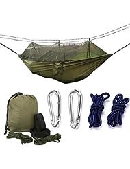 Camping Hängematte, Moskitonetz Outdoor Hängematte Reise Bett leicht Hängematte Stoff Fallschirmseide für Innen, Camping, Wandern, Rucksackreisen, Backyard