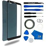 MMOBIEL Kit de Reemplazo de LG G6 Series 5.7 Inch (Negro) incluye pantalla de Vidrio / cinta adhesiva de 2 mm / Kit de Herramientas / Limpiador de microfibra / alambre Metálico