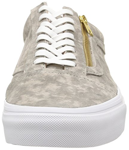 Vans U Old Skool Zip Suede, Baskets Basses Mixte Adulte Gris (Marble Suede/Khaki/True White)