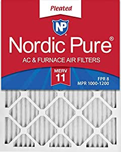 Nordic Pure 20x30x1 MPR 1000D Pleated Micro Allergen Replacement AC Furnace Air Filters 6 Pack