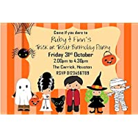 Personalised Halloween Birthday Party Invitations x10