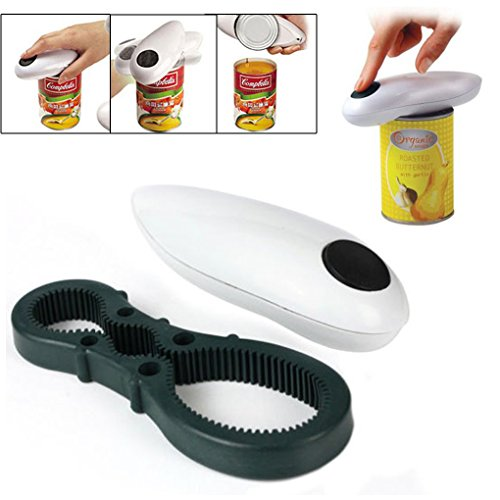 Generic High Quality One Touch Automatic Can Jar Opener Tin Open Tool Cordless Battery Operated