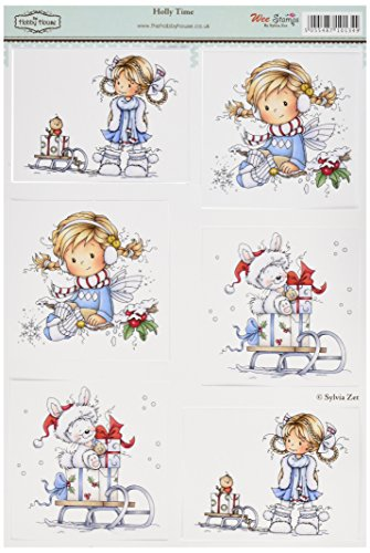 hobby-house-hhws006-wee-stamps-topper-sheet-83-by-122-inch-holly-time-by-hobby-house