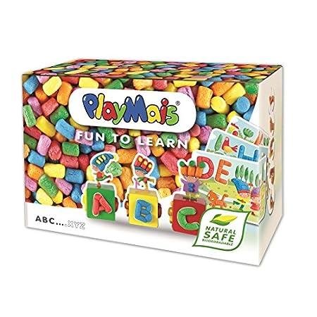 PlayMais Fun to Learn ABC Bastel-Set für Kinder ab 3 Jahren I Motorik-Spielzeug mit 550 14 Motiv-Vorlagen zum Basteln I…
