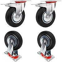 miafamily ruedas de transporte carga pesada ruedas, ruedas & Rueda Giratoria Con Freno, goma