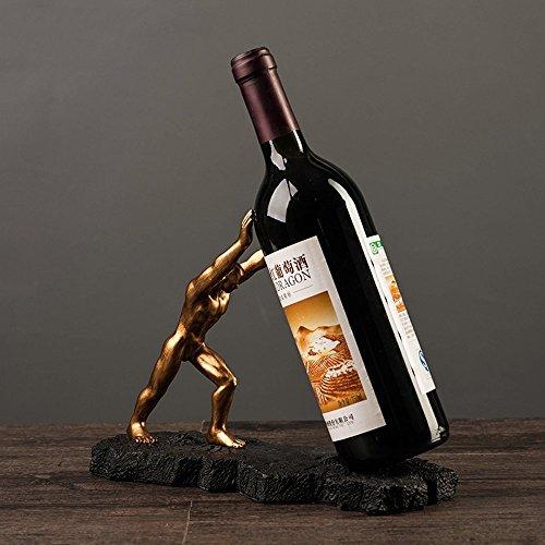 (GBYZHMH Europäische Retro Harz Wine Rack Holder Weihnachten TV-Schrank Kunstwerk Handwerk Wein Regal Home Ornamente Dekoration Interieur Anzeige Halloween Geschenk Stand)