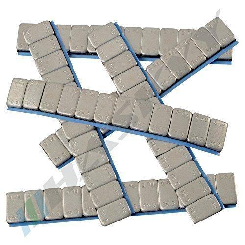 100 Pesi 12X5G Zincato Peso 6 Kg Acciaio Adesivo Bar 60 G Bordo Plastificata