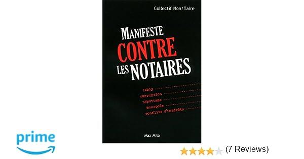 Amazon.fr manifeste contre les notaires collectif livres