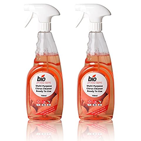 2 Professional Bottles Of Natural Orange Cleaner & Degreaser To